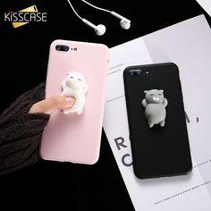 Cute Silicon Cartoon Cat Cases For iPhone #iphone6splus,