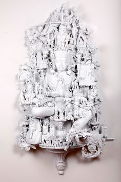 """Artist: Rondle West; Found Objects 2010 Sculpture """"One more day at the salt…"""