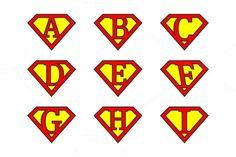 Super alphabet letters by stockimagefolio on @creativemarket