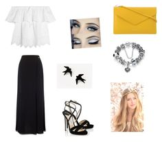 """""""yellow"""" by giorgia-brea on Polyvore featuring Jacques Vert, Madewell, PUR and Jimmy Choo"""