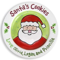 Cookies for Santa plate ((*Gotta do this!!**  But, maybe I should wait 'til next year so I can add the *NEW BABY'S* name?!!:)(:....))