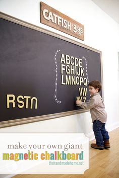 how to make a magnetic chalkboard - the handmade homethe handmade home
