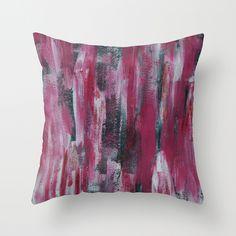 Festive Red Throw Pillow by Georgiana Paraschiv