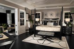 Master bedroom art romance area for idea wall decor above bed romantic paintings . Beautiful Bedrooms Master, French Doors Bedroom, Taupe Walls, Taupe Bedroom, Black Bedroom Furniture, Luxurious Bedrooms, Eclectic Master Bedroom, Champagne Bedroom, Luxury Bedroom Master