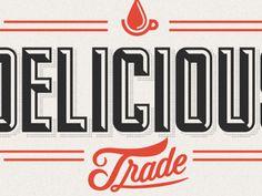 Delicious Logo  by Drew Melton