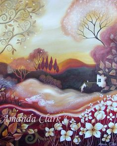 A fairytale  art print titled  Dawn of Autumn