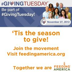 It's #GivingTuesday! Help Feeding America in the fight against hunger!