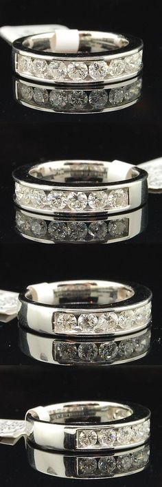 Diamonds and Gemstones 92853: Diamond Anniversary Ring Ladies 14K White Gold Round Wedding Band 1 Tcw. -> BUY IT NOW ONLY: $1199.99 on eBay!