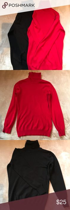Befree  Sweaters black and red Two sweaters. red size S and black size M but looks like one size. Gently used condition. Great with jeans and skirt. Smoke free home. befree Sweaters