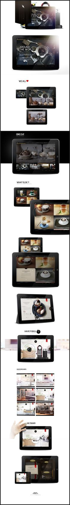 Nespresso workshop app design by Antoine Pelgrand Kostadinoff