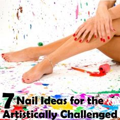 7 Nail Ideas for the Artistically Challenged. Even if you are artistic painting your own nails is a challenge. Due to your angle vs the angle of another person doing them for you it's challenging.