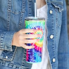 Swig 22 Oz Tumbler: Swirled Peace - Off the Racks Boutique Feelin Groovy, Hot Toddy, Stainless Steel Straws, Palm Of Your Hand, Sweet Tea, Sugar Free, Tumbler, Peace, Tie Dye