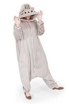 Pusheen unisex kigurumi costume - Hey Chickadee and like OMG! get some yourself some pawtastic adorable cat apparel! Pusheen Onesie, Pusheen Costume, Chat Pusheen, Pusheen Stuff, Pijamas Onesie, Pusheen Birthday, Cute Onesies, Up Costumes, Halloween Costumes