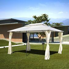 New Garden Gazebo Canopy Sheltering Sun Protection 3x4 m Wedding BBQ Camping