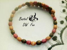 Sumizu Armband  von Bastel-DW-Fee auf DaWanda.com Holzperlen Wire Draht Armband im Bohemian Stil