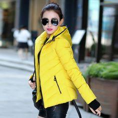Coat Winter Jackets for Women Lady Style Fashion Short Outdoor Parka Thick Warm Down Cotton 5 Colors Plus Size M-XXL