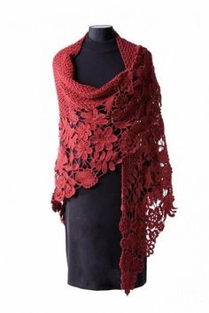 The lovely shawl TECHNOLOGY Irish lace .... Comments: LiveInternet - Russian…