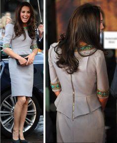 Love this Matthew Williamson peplum dress that Kate wore today!