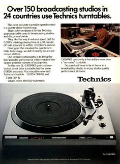 [IMG] Hifi Turntable, Audiophile, Vintage Market, Vintage Ads, Technics Turntables, Ad Of The World, Hifi Audio, Old Toys, Appliance