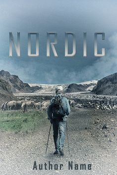 Nordic, a front book cover in high resolution with a Nordic walking man on Iceland. A back and spine can be made with your own preferences and text for a small extra fee. Overall colour and fonts are adjustable and off course your own Title, text and references will be put in before you receive…