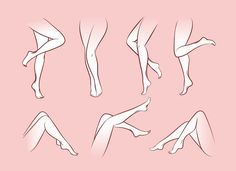 Find Vector Woman Legs Set Girl Body stock images in HD and millions of other royalty-free stock photos, illustrations and vectors in the Shutterstock collection. Leg Reference, Anatomy Reference, Design Reference, Drawing Reference, Drawing Legs, Human Drawing, Drawing Base, Arm Art, Sketches Tutorial