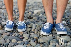 Love this couple's matching Vans sneakers! Too cute!