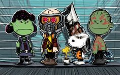 Image of the Day: The Peanuts-Guardians of the Galaxy mashup you need!   Blastr