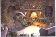 """Badger's Parting Gifts"" by Susan Varley, 1984 (http://www.amazon.com/dp/0688026990/?ref=rdr_ext_tmb)"