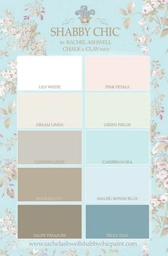 10 Gorgeous Shabby Chic Colors for Inspiration (french wedding decor color palettes) #shabbychicfurniturecolors