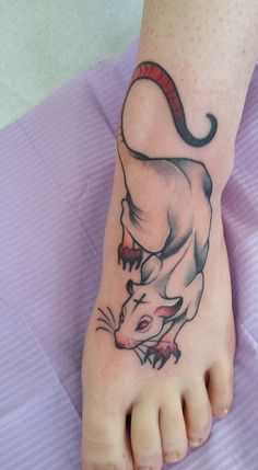 1337tattoos — My rat by Brittany Lane at Electric Umbrella....