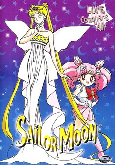 Official North American Sailor Moon Volume 14 DVD Cover with Neo Queen Serenity and Sailor Mini Moon. Information and shopping links here http://www.moonkitty.net/reviews_sailormoonrdvds.php