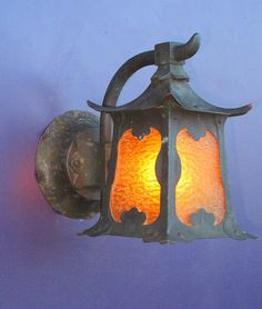 This Highly Sought After Vintage Porch Light Fixture Shows A Strong Asian  Influence, Popular In The Arts Crafts Movement.