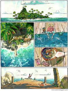 Various illustration pieces from different projects. Comic Layout, Graphic Novel Art, Arte Disney, Environment Concept Art, Aesthetic Art, Loki, Art Inspo, Amazing Art, Art Reference