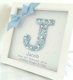 Baby diy keepsakes shower gifts Ideas for 2019 Deco Baby Shower, Baby Boy Shower, Baby Shower Gifts, Baby Shower Keepsake, Baby Shower Frame, Baby Shower Cards, Baby 1st Birthday Gift, Birthday Gifts For Boys, Birthday Crafts