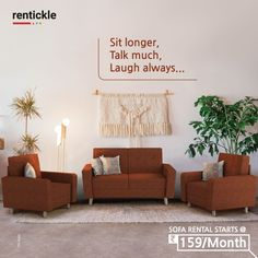 The only true comfortable furniture your home deserves: Sofas that add a touch of style to your living room. Rent the perfect one for you, today! Rent Now Thinking of Renting. Think of Rentickle! Renting, Sofa Set, Hyderabad, Home Furniture, Interior Decorating, Couch, Living Room, Home Decor, Style