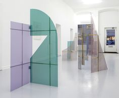 "installation view of ""Screens & Reliefs""<br /> EtageProjects Kopenhagen, 2014"