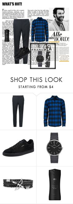 """Francoflorenzi 3"" by lejla150 ❤ liked on Polyvore featuring Burberry, Volcom, Puma, VIcenza, Axe, men's fashion, menswear and francoflorenzi"