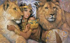 Nice Sekhmet rendition #goddesses