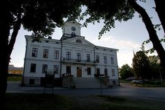 Town hall Kristinestad, Ostrobothnia province of Western Finland.- Pohjanmaa - Österbotten