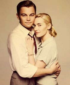 """Leonardo DiCaprio and Kate Winslet, one of the powerful screen couples. After the """"Titanic"""", they shared roles again at the movie """"Revolutionary Road"""" Leonardo And Kate, Kate Winslet And Leonardo, Leonardo Dicaprio Kate Winslet, Brigitte Lacombe, Revolutionary Road, Trailer Peliculas, Leo And Kate, Titanic Movie, Kate Titanic"""