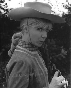 0 Angela Douglas with a gun in Carry on Cowboy 2 English Actresses, British Actresses, Western Movies, Vintage Girls, Carry On, Cowboy Hats, Cowgirls, Female, Lady