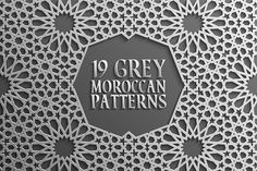 Grey Islamic Seamless Pattern Set 2 by DmitriyRazinkov on @creativemarket