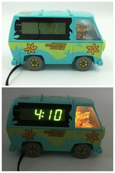 Scooby Doo Mystery Machine Van Digital Alarm Clock 1999 Westclox Model 32452