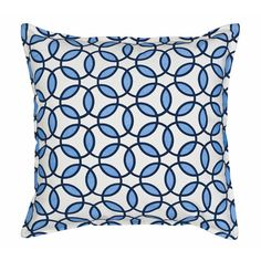 Found it at Wayfair - Rings Cotton Canvas Throw Pillow