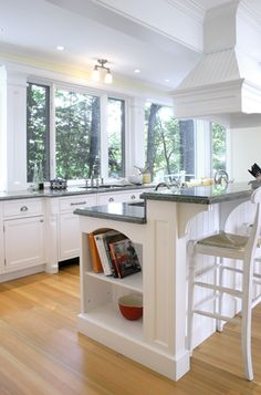Kitchen Breakfast Bar Ideas kitchen layout with breakfast bar - another option if you wanted