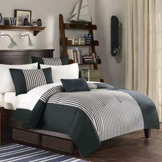 Teen Bedding, Mizone Aaron Comforter Set - Black - Full/Queen