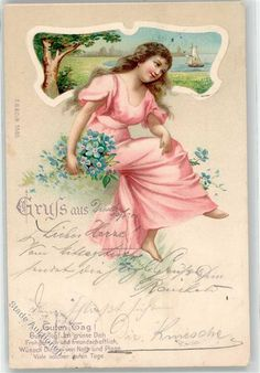 1901 Liebe Frau Vergissmeinnicht Segelboot: Ansichtskarten-Center Onlineshop