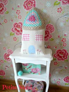 Granny Square House Pillow