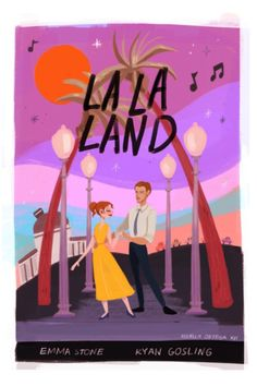 it's another day of sun I decided to express my love for LA LA LAND in the form of a poster. I do hope everyone gets to see this movie, it's simply magical!