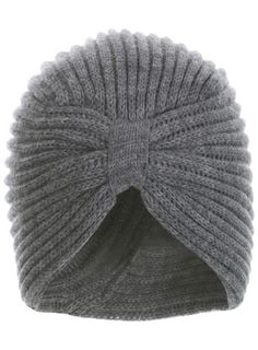 Grey Knitted Turban - I find the shape incredibly flattering